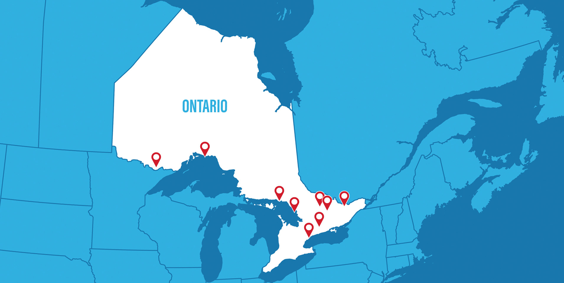 Ontario Paddling Map